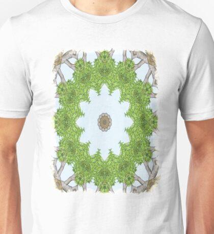 Bark Leaves Stone Kaleidoscope Art 5 Unisex T-Shirt