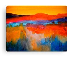 Landscape Abstract...The Niagara Escarpment Canvas Print