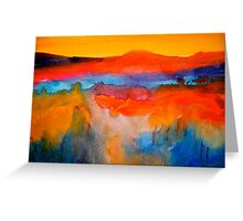 Landscape Abstract...The Niagara Escarpment Greeting Card