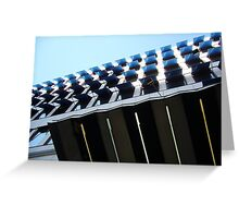 blue awnings Greeting Card