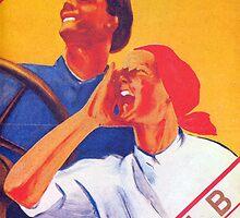 We are the future - Soviet union propaganda poster  by SofiaYoushi