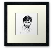 David Tennant as Alec Hardy Etching Framed Print