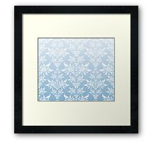 Blue decorative ornament Framed Print