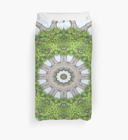 Bark Leaves Stone Kaleidoscope Art 6 Duvet Cover