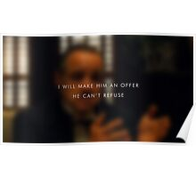 An offer he can't refuse Poster