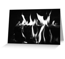 Black Flame Greeting Card