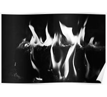 Black Flame Poster