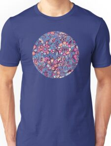 Sweet Spring Floral - soft indigo & candy pastels Unisex T-Shirt