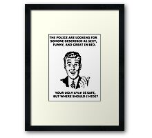 Funny Sarcastic Retro Shirt Tees Humor Framed Print