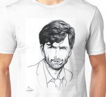 David Tennant as Alec Hardy Etching Unisex T-Shirt