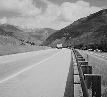 Interstate 70 - Black & White by kmdphotog