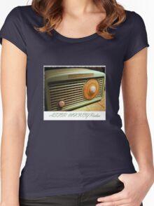 Astor Mickey Radio Retro 50's Women's Fitted Scoop T-Shirt