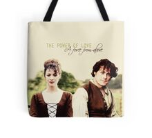 """Outlander - Claire x Jamie """"The power of love..."""" Tote Bag"""