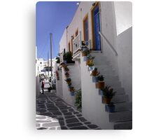 Typical greek corner Canvas Print