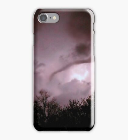 Funnel Cloud Back Lit By Lightning iPhone Case/Skin