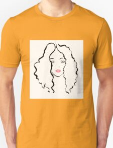 curly woman T-Shirt