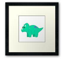 Tilly Triceratops Framed Print