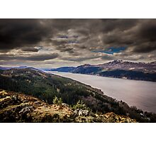 Loch Ness and Nevis Range from Dun Deardail Photographic Print