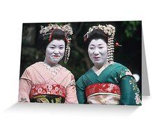 Happy Geishas Greeting Card