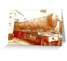 Old Steam Train, Minehead, Somerset Greeting Card