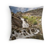 Waterfall - Blaenau Ffestiniog Throw Pillow