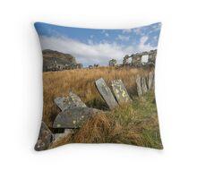 Cwmorthin Ruins Throw Pillow