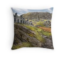 Old Barracks - Cwmorthin Throw Pillow