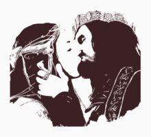 Aragorn and Arwen Kiss Kids Clothes