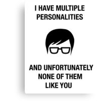 funny hipster insult humor offensive nerdy novelty Canvas Print