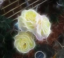Pretty Yellow Roses..Fractilus by judygal