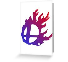 Smash Logo Red and Blue Greeting Card