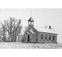 Old Abandoned School House in Nebraska Photographic Print