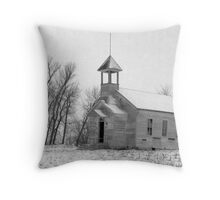 Old Abandoned School House in Nebraska Throw Pillow