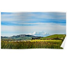 Green hills of Sicily Poster