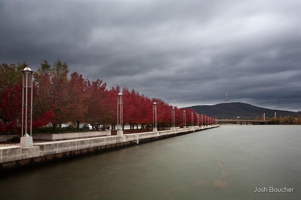 Lake Burley Griffin Sidewalk by Josh Boucher