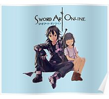 Sword Art Online Kirito and Yui Poster