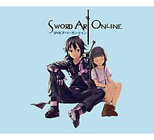 Sword Art Online Kirito and Yui Photographic Print