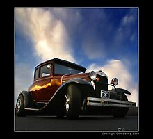 """""""Hot Rod Ford at Top Gun III"""" by Don Bailey"""