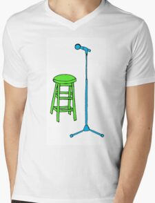 Stand Up Comedy Stool and Mic.  Mens V-Neck T-Shirt