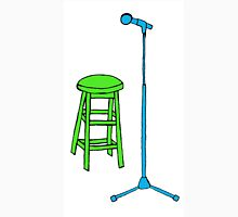 Stand Up Comedy Stool and Mic.  Unisex T-Shirt