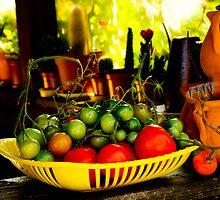 Tomato harvest by Rainer Kuehnl