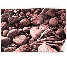 Sea stones. Poster