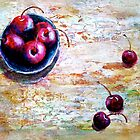 Cherries... with a Picnic Table by  Janis Zroback