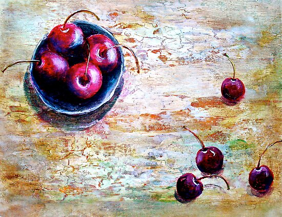 Cherries... with a Picnic Table by © Janis Zroback