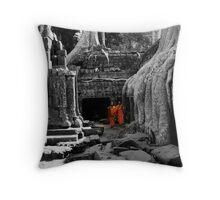 Majestic Orange Throw Pillow