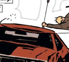 clint barton back in a sec hawkeye avengers marvel Sticker