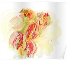 A bouquet of tulips Poster