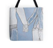 Man and woman holding hands Tote Bag