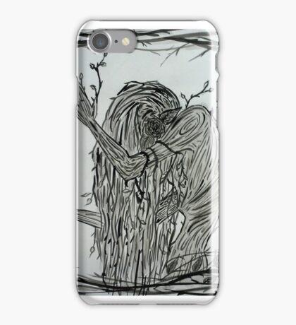Rose Bush Woman iPhone Case/Skin