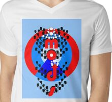 Mods  Black and  Red. Mens V-Neck T-Shirt